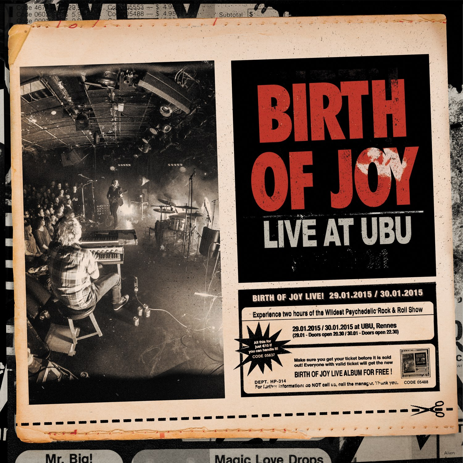 Birth of Joy Live at UBU pochette album
