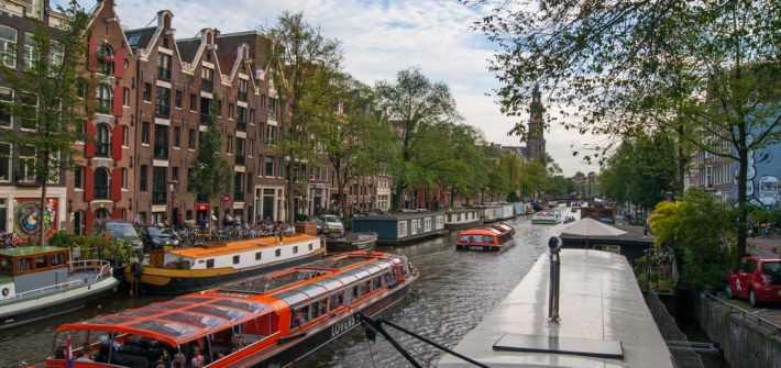 Amsterdam Pays-Bas canaux maisons